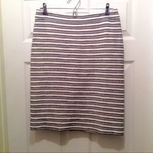 J. Crew Factory Striped Terry Pencil Skirt
